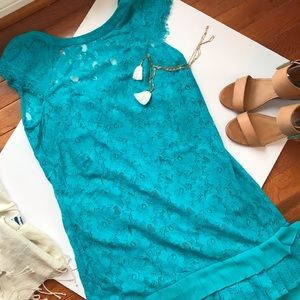 EUC Jessica Simpson lace dress with low back